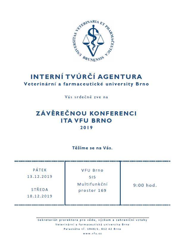 Pozvánka na konferenci ITA 2019